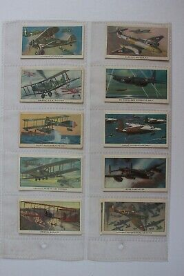 Old Trade Cards By Kellogg Co.  British Military Aircraft  1963 Set 16 • 2£