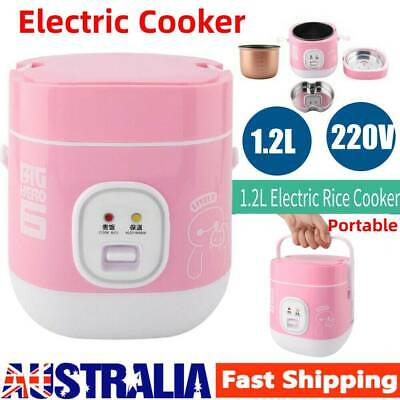 AU45.99 • Buy Portable Electric Rice Cooker 2 Layer 1.2L Mini Food Steamer Pot Heating Cooker