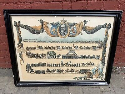 Original Print Of Dutch Funeral Procession Of Prince Willem Iii  • 145£