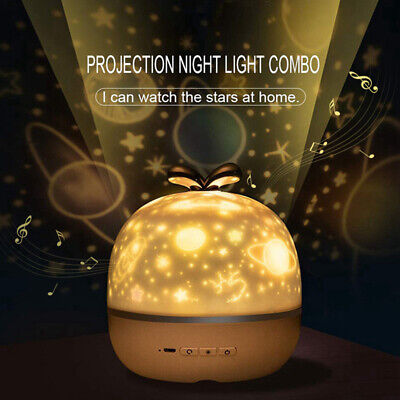 360 Rotation Starry Sky Ocean LED Night Light Projector With 6 Films Lighting • 23.29£
