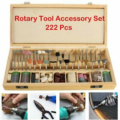 222x New Rotary Power Drill Tool Accessory Kit Fits Dremel Multi Tools Set Uk • 13.85£