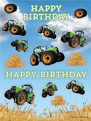 AU3.12 • Buy CLEARANCE Tractor Time Birthday Party Bag Fillers - Sticker Sheet X 4