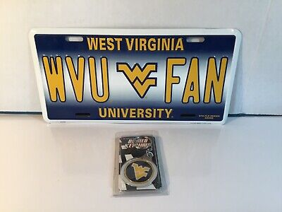 $ CDN24.17 • Buy New West Virginia University License Plate WVU FAN And Key Chain Mountaineers!