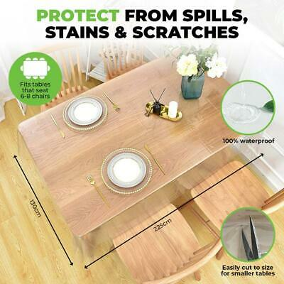 AU13.98 • Buy Transparent Plastic Tablecloth Protector PVC Clear Dining Picnic Table Cover AU
