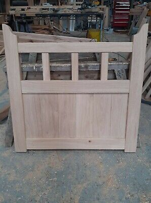 Handmade Solid Oak Garden Gate 1000mm X 900mm With Moulded Stiles Air Dried • 320£