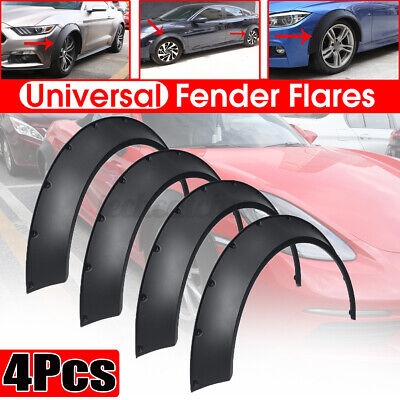 $58.99 • Buy 4x Flexible Universal Car Fender Flares 3.9'' Extra Wide Body Wheel Arches Cover