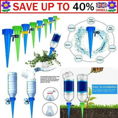 6Pcs Automatic Irrigation Device Drip Flower Plant Sprinkler Watering Spike B1 • 0.99£
