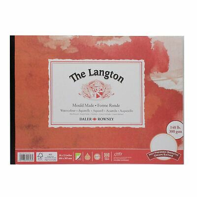 Daler Rowney Langton Watercolour Hot Pressed Pad 16x12  300g 12sh • 19.47£