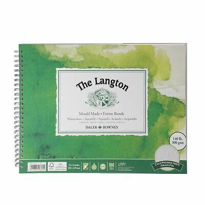 Daler Rowney Langton Watercolour Cold Press Spiral 12x9  300g 12sh • 14.48£