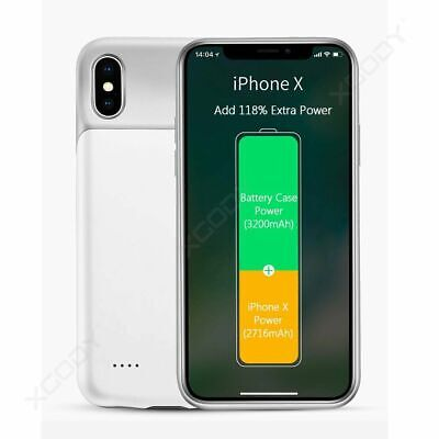 AU41.98 • Buy Ultra-Thin Charger Battery Case Battery Charging Power Bank Case For IPhone X Xs