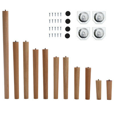 £13.95 • Buy 4pcs Wooden Furniture Legs 10°Angled Tapered Wood Sofa Table Replacement Feet