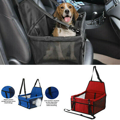 Cute Large Pet Car Seat Carrier Cat Dog Puppy Travel Safe Cage Belt Seat Bag • 14.69£