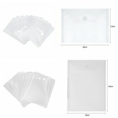 10 Pcs/lot Clear Plastic Storage Bag Hook&Loop Fasteners For Cutting Die Stamps • 4.09£