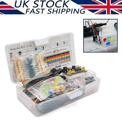 Electronic Component Starter Kit Wires Breadboard Buzzer Resistor Transistor LED • 12.29£