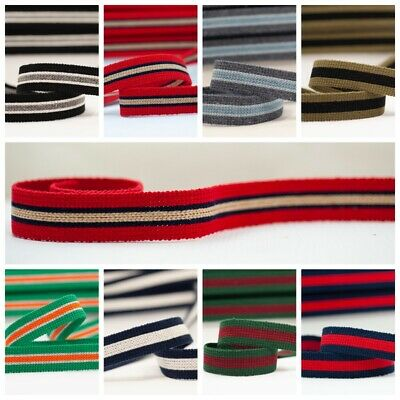 Webbing 25mm, Bag Straps, Belts, Cotton/acrylic Mix, Sold By The Metre • 1.65£