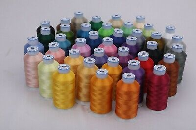 $26.95 • Buy Premium Polyester Brother Machine Embroidery Thread Set Of 40 Colors