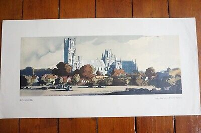 £499.99 • Buy 1940s LNER Ely Cathedral Railway Carriage Print Poster By Rowland Hilder