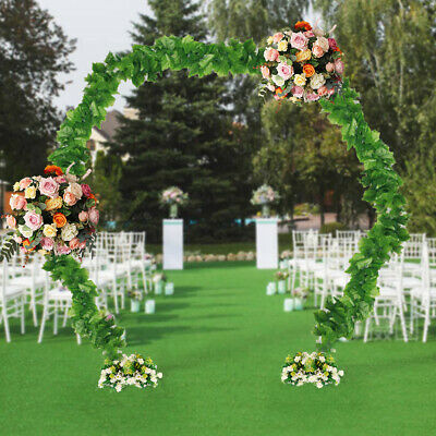 $79.93 • Buy Outdoor Heavy Duty Metal Wedding Archway Garden Flower Balloon Arch Gate White