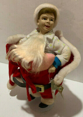 $9.95 • Buy Norman Rockwell  Scotty Plays Santa  Porcelain Doll
