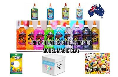 AU19.99 • Buy PICK 4 ELMERS GLUE SET - Glitter Glue/ Washable Colour Glue/Elmer's Mini Glue