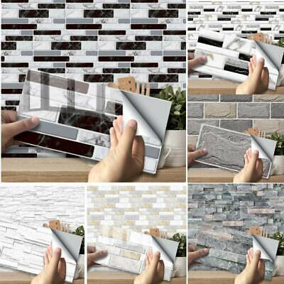27Pc Mosaic Sticker Kitchen Tile Stickers Bathroom Self-adhesive Wall Home Decor • 6.99£