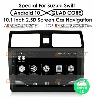 AU212.51 • Buy 10.1  Android Car Radio Stereo Player Wifi GPS For Suzuki Swift 2005-2010 2+32GB