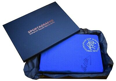 Colin Stein Signed Shirt Autograph Glasgow Rangers New Gift Box AFTAL & COA • 144.99£