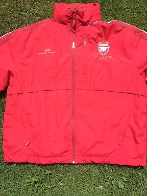 Arsenal Fc  Mens Red Shower Jacket  With Concealed Hood Size Large • 10.99£