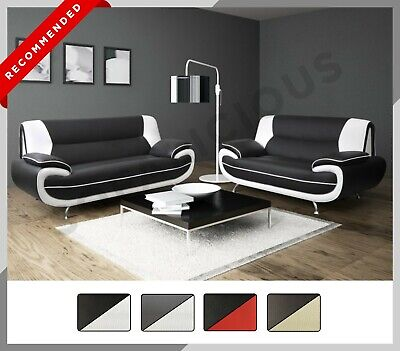 £489 • Buy NEW PALERMO 3+2 SOFA SET Suite Armchair Modern Faux Leather Grey Black Brown