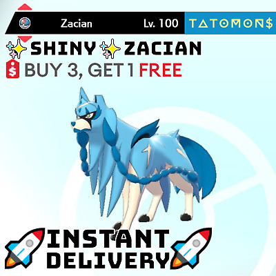 $1.99 • Buy POKEMON SWORD AND SHIELD ✨SHINY✨ ZACIAN 6IV 🚀Instant Delivery🚀