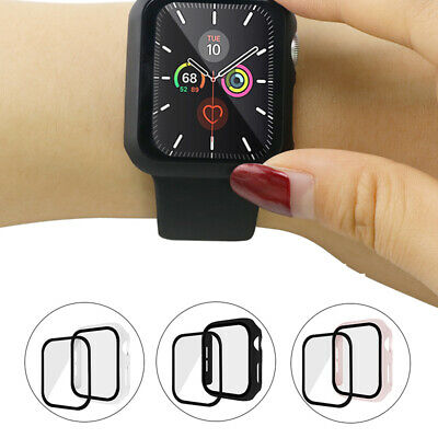 $ CDN3.70 • Buy Apple Watch Series 3/4/5 Case Tempered Glass Protect Full Body Cover