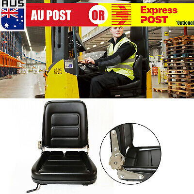 AU94.99 • Buy Forklift Seat Chair Adjustable Leather Bobcat Tractor Excavator Machinery  (