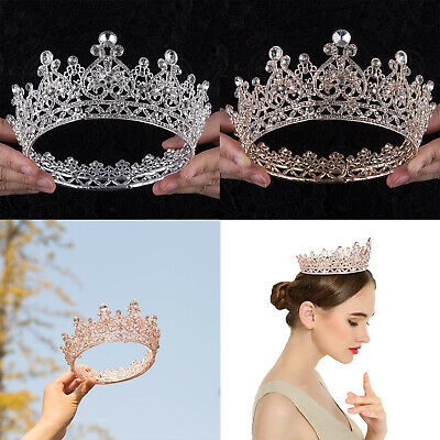 $ CDN21.35 • Buy Baroque Pageant Queen Bridal Wedding Prom Tiara Crown Hair Accessories Headband