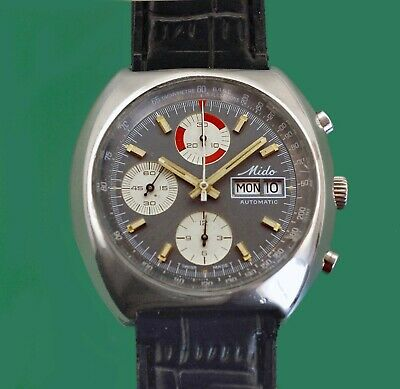 $ CDN2640.88 • Buy Vintage 70's MIDO Automatic Day Date Chronograph Men's Watch Valjoux 7750