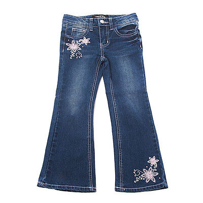 $12 • Buy Girls Size 4 Freestyle Revolution Floral Denim Jeans B639 Pants