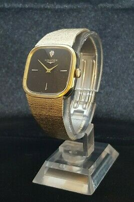 $ CDN150 • Buy Vintage Longines 10k Gold Rolled Mens Dress Wristwatch, Black Dial 17J/ 528