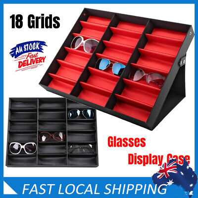 AU30.89 • Buy 18 Grid Eye Glasses Case Sunglasses Display Storage Box Holder Glasses Organizer