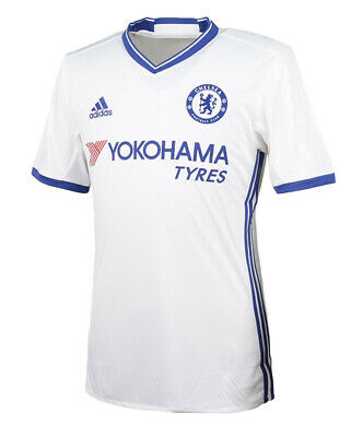 Adidas 2016/17 Chelsea FC 3rd Football Jersey Men's S/S Shirts White AI7180 • 70.12£