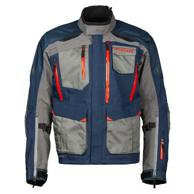 $ CDN968 • Buy Klim Carlsbad Navy Blue Red Motorcycle Jacket- Free Shipping