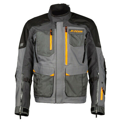 $ CDN968 • Buy Klim Carlsbad Asphalt Strike Orange Motorcycle Jacket