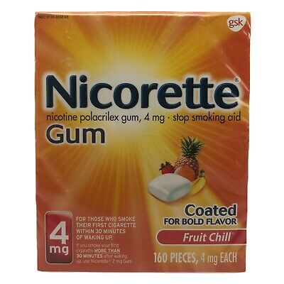 $ CDN60.15 • Buy Nicorette GUM 4mg Fruit Chill 160 Pieces Nicotine  Factory Sealed Exp-03/2023