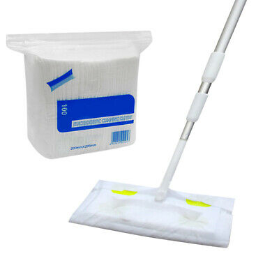 Static Floor Duster Cleaning Mop Sweeper With 100 Wet Or Dry Wipes For Wood Tile • 16.11£