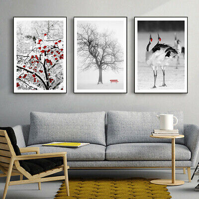 Red Chair Tree Fruit Crane Canvas Print Poster Picture Wall Home Decor • 7.11£