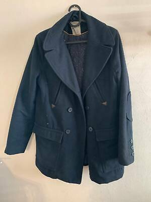 AU30 • Buy Large Pull And Bear Navy Pea Coat - Used