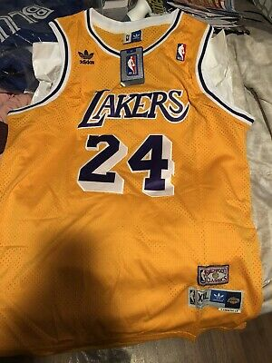 $ CDN25 • Buy NBA Kobe Bryant Adidas Gold Los Angeles Lakers Jersey #24 Men's Size Xxl