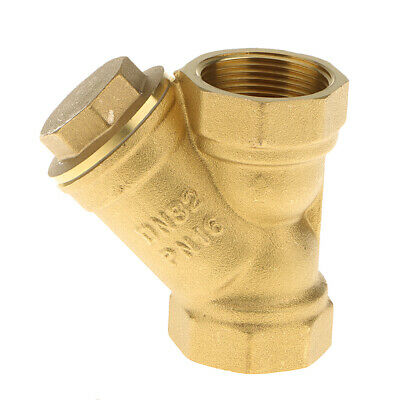 Female Type Y Brass Strainer Valve Pump Filter Valve Hose Connector Pipe • 7.77£