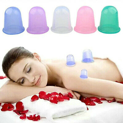 5 X Massage Silicone Vacuum Anti Ageing Body Facial Cup Anti Cellulite Cupping • 5.89£