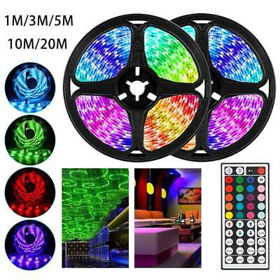 10/20M RGB LED Strip Light Tape Cabinet Kitchen Ceiling With IR Remote 3528 12V • 16.99£