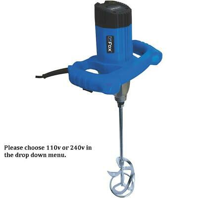 £79.99 • Buy Fox F7830-1400W Twin Speed Plaster/Plasterers Electric Paddle Mixer 240v Or 110v