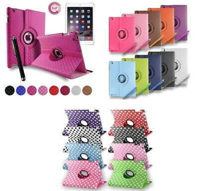 £3.99 • Buy Leather Plain 360 Degrees Rotating Case Cover Stand For Apple IPad 2 3 4 GEN